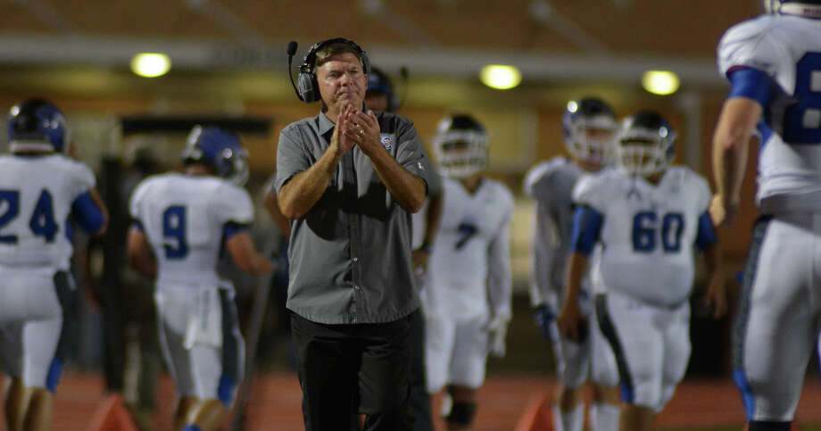New Caney head coach pumps up his team during a district matchup against Humble at Turner Stadium in Humble on Oct. 6, 2016. (Photo by Jerry Baker/Freelance) Photo: Jerry Baker, Freelance / Freelance