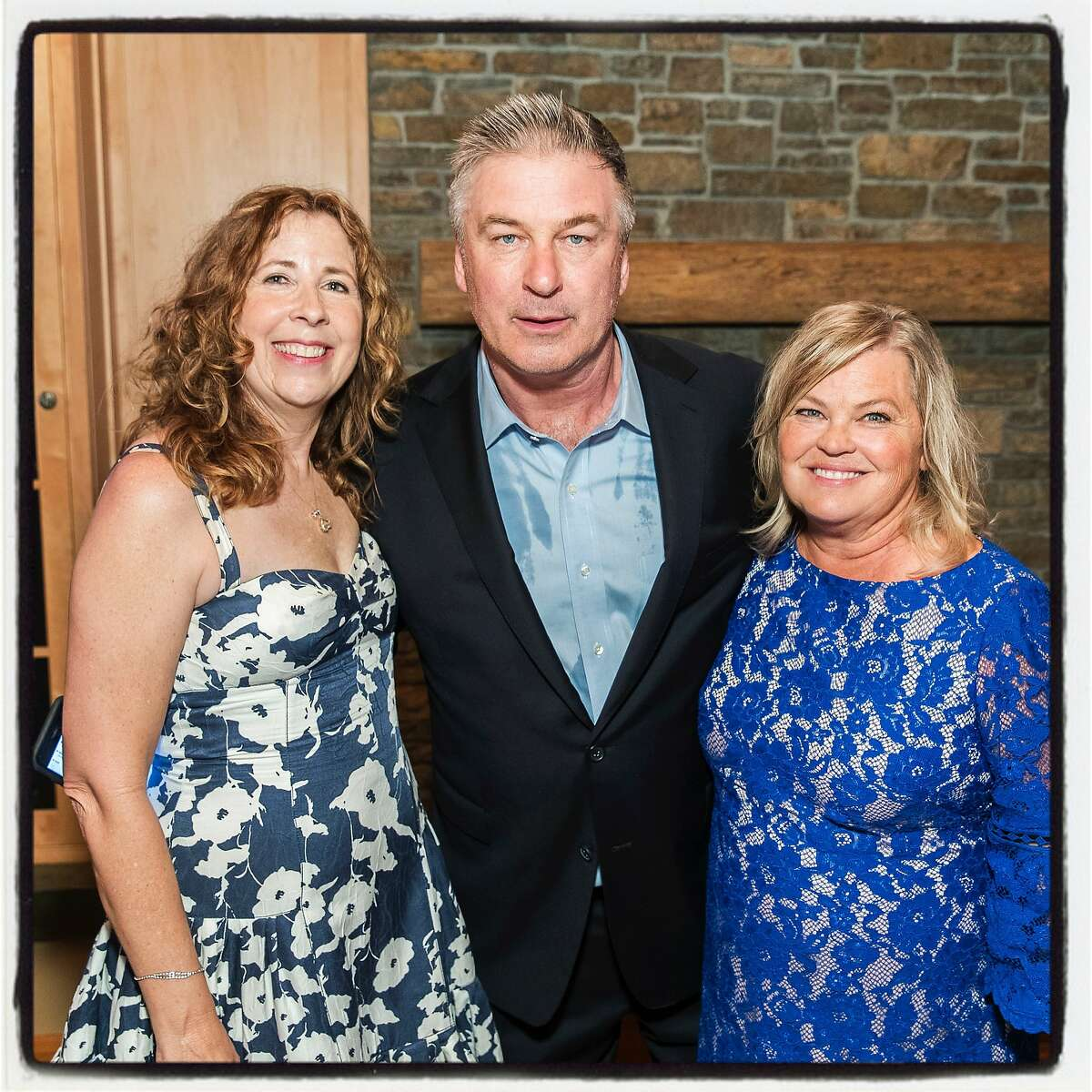 Laure Woods (left) with actor Alec Baldwin and Bay Area Lyme Foundation Director Linda Giampa at the LymeAid fundraiser. May 21, 2017.