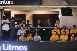 Mezzanine suite 14 during Game 1 of the NBA Finals between the Golden State Warriors and Cleveland Cavaliers on Thursday, June 1, 2017, in Oakland, Calif. The Oakland City Council considered selling its luxury box at Oracle Arena to the Warriors for $200,000 to help generate funds for the cash-strapped city. In the end members balked at the deal. Some council members allegedly didn't want to part with the valuable seats, especially during the Warriors playoffs.