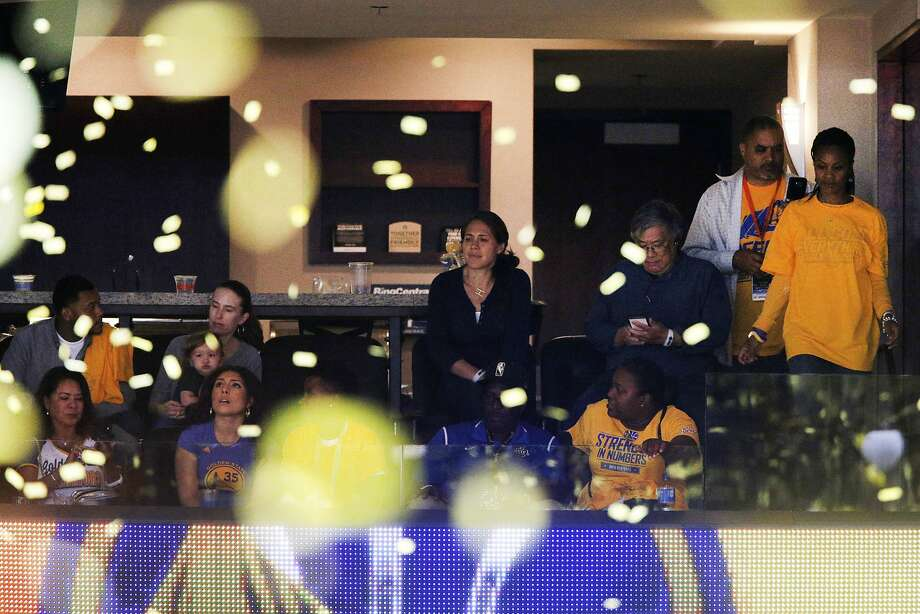 The Oakland City Council made $35,000 for the city's Emerging 100 initiative by auctioning a pair of tickets to its Oracle Arena luxury box for the final game of the NBA finals. Photo: Santiago Mejia, The Chronicle