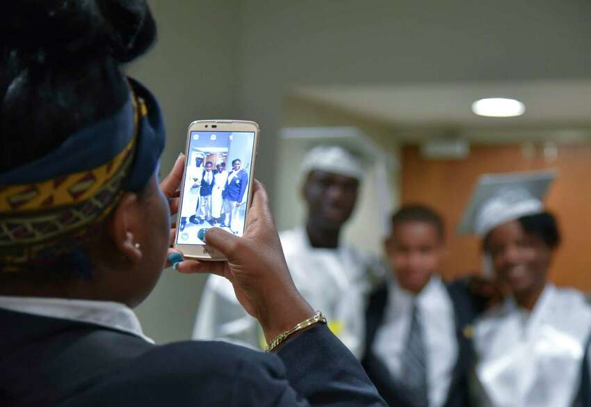 The Capital Prep Harbor School celebrated their second annual commencement on Friday, June 2, 2017 in The Arnold Bernhard Arts Center on the University of Bridgeport campus.