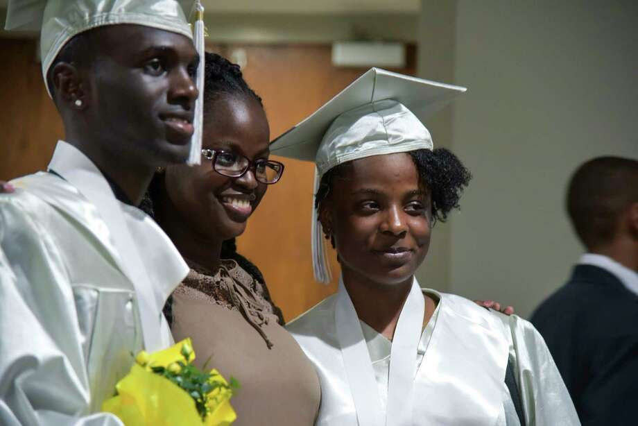 The Capital Prep Harbor School celebrated their second annual commencement on Friday, June 2, 2017 in The Arnold Bernhard Arts Center on the University of Bridgeport campus. Photo: Bailey Wright, For Hearst Connecticut Media / Connecticut Post Freelance