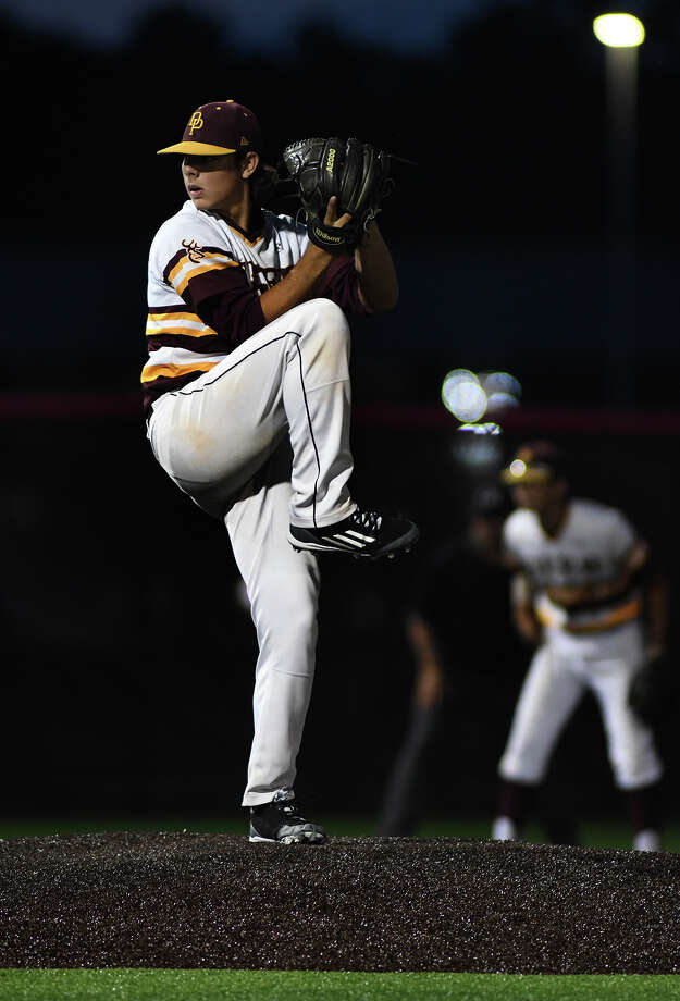 Deer Park pitcher Clay Aguilar works to a Travis hitter in the top of the 1st inning of game two of their UIL Region III-6A Regional Finals series at Crosby High School on Friday, June 2, 2017. (Photo by Jerry Baker/Freelance) Photo: Jerry Baker/For The Chronicle