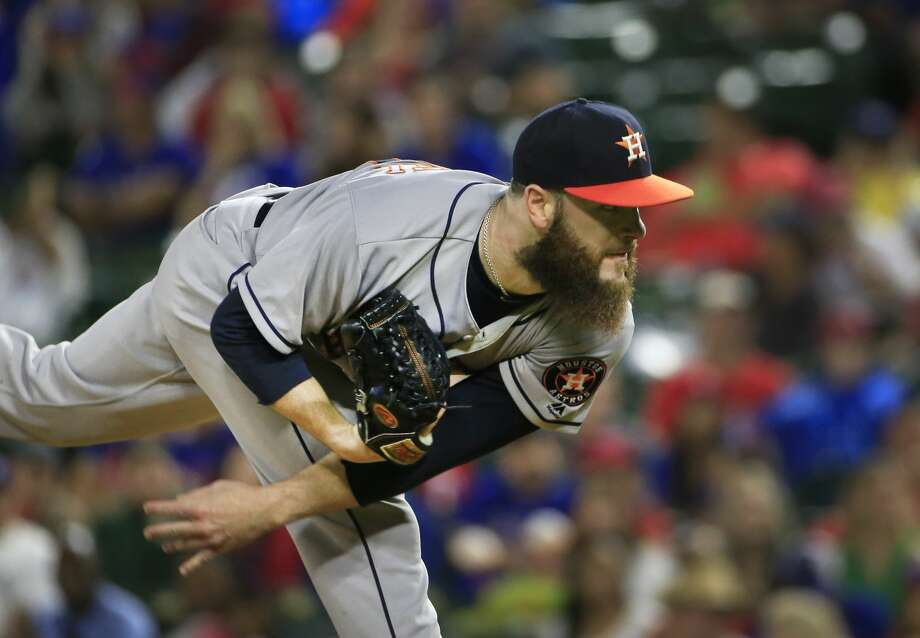 On his second stint on the 10-day DL, Astros pitcher Dallas Keuchel is not likely to make his next start until after the All-Star break. The Astros play 12 more games before the MidSummer Classic. Photo: Ron Jenkins/Getty Images