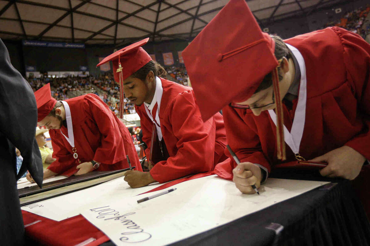 We're second to last when it comes to graduating high school Share of population with high school diploma:82.4 percent Population with high school diploma rank:49
