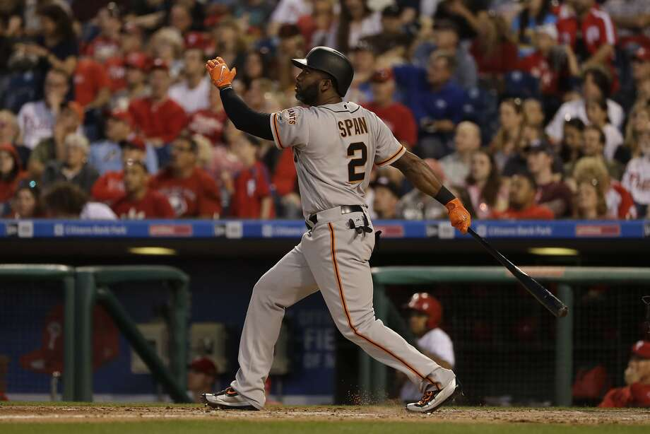 Denard Span had his first five-hit game as a Giant on Friday, the fifth of his career overall. Photo: Matt Slocum, Associated Press
