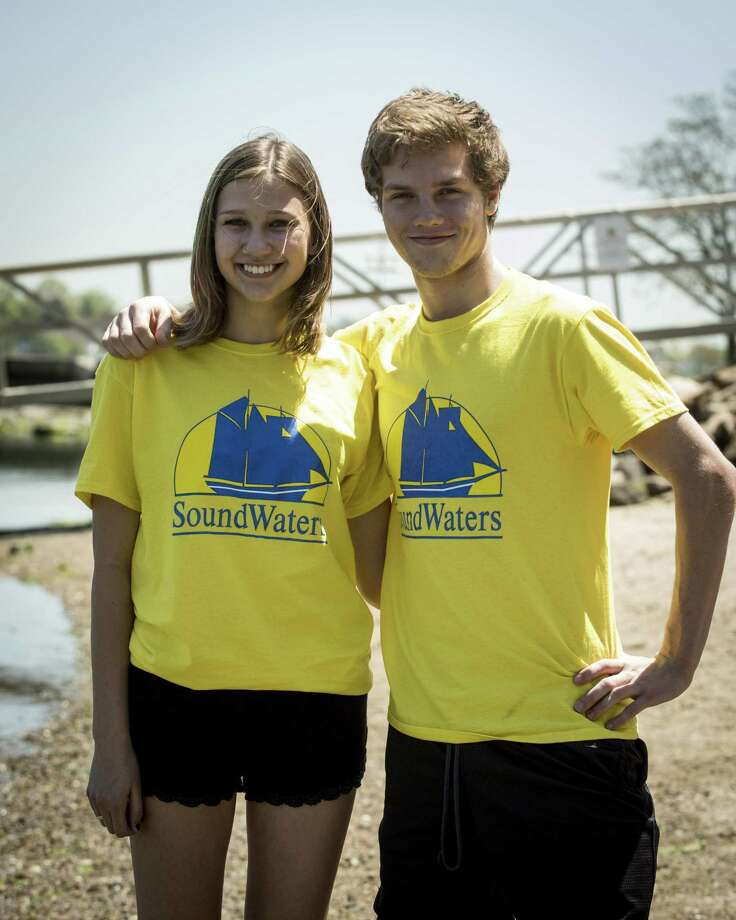 SoundWaters, the Stamford-based environmental education organization, has chosen Wilton High School seniors Delia Creveling and Kyle Wilson for its spring internship program. Photo: Contributed Photo / Michael Bagley / 2017