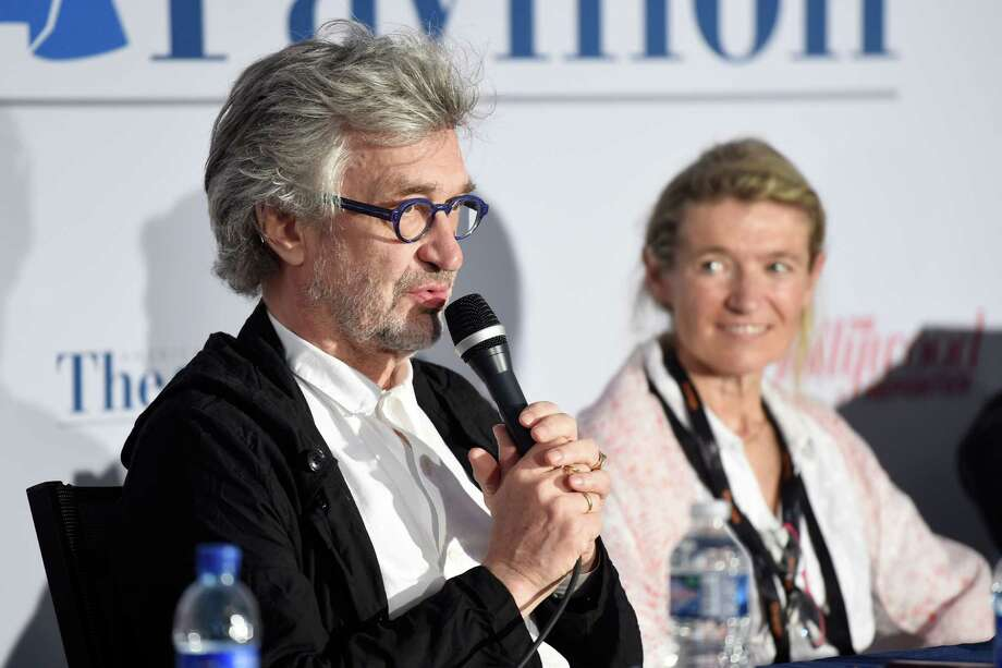 CANNES, FRANCE - MAY 25:  Director Wim Wenders and Anne Facerias, Founder Festival Sacre de la Beaute attend the 'Responsibility of Filmmakers in making movies that matter' event during the 70th annual Cannes Film Festival at the American Pavillion on May 25, 2017 in Cannes, France.  (Photo by Antony Jones/Getty Images) Photo: Antony Jones, Stringer / 2017 Getty Images