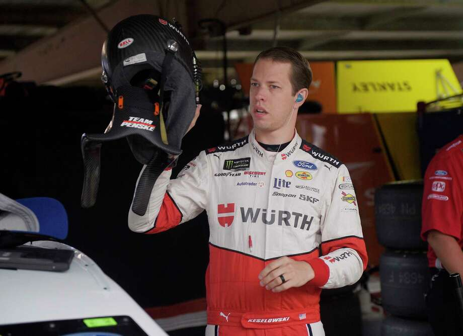 Brad Keselowski gets ready before practice for the NASCAR Cup series auto race, Saturday, June 3, 2017, at Dover International Speedway in Dover, Del. (AP Photo/Nick Wass) Photo: Nick Wass, FRE / FR67404 AP