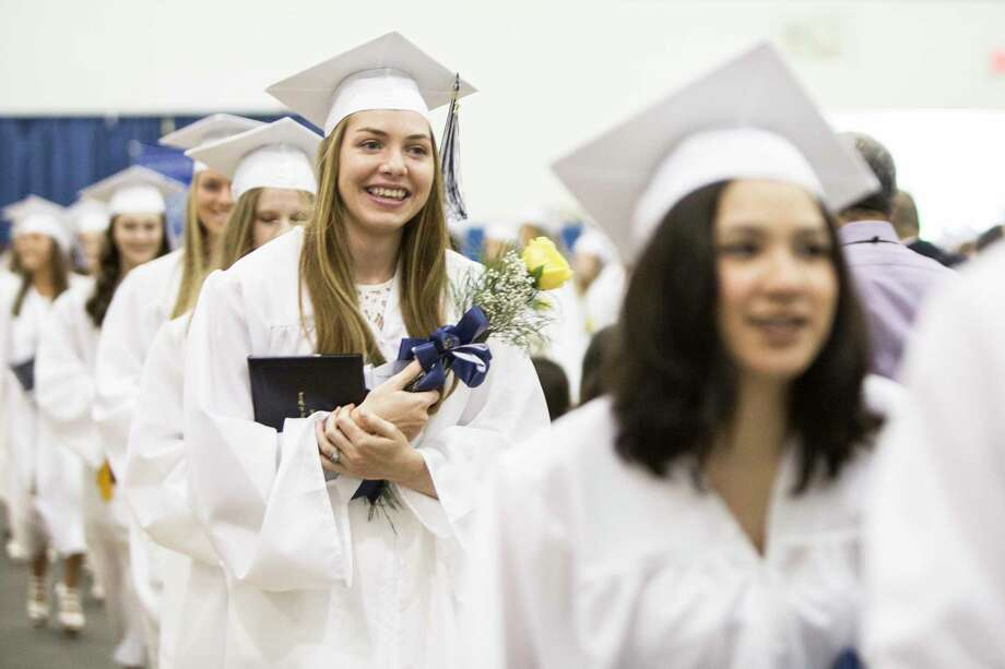 The Academy of Our Lady of Mercy, Lauralton Hall held their 2017 graduation ceremony for 129 students graduates on the campus in Milford, Conn. on Saturday, June 3, 2017. Photo: Johnathon Henninger, For Hearst Connecticut Media / Connecticut Post Freelance