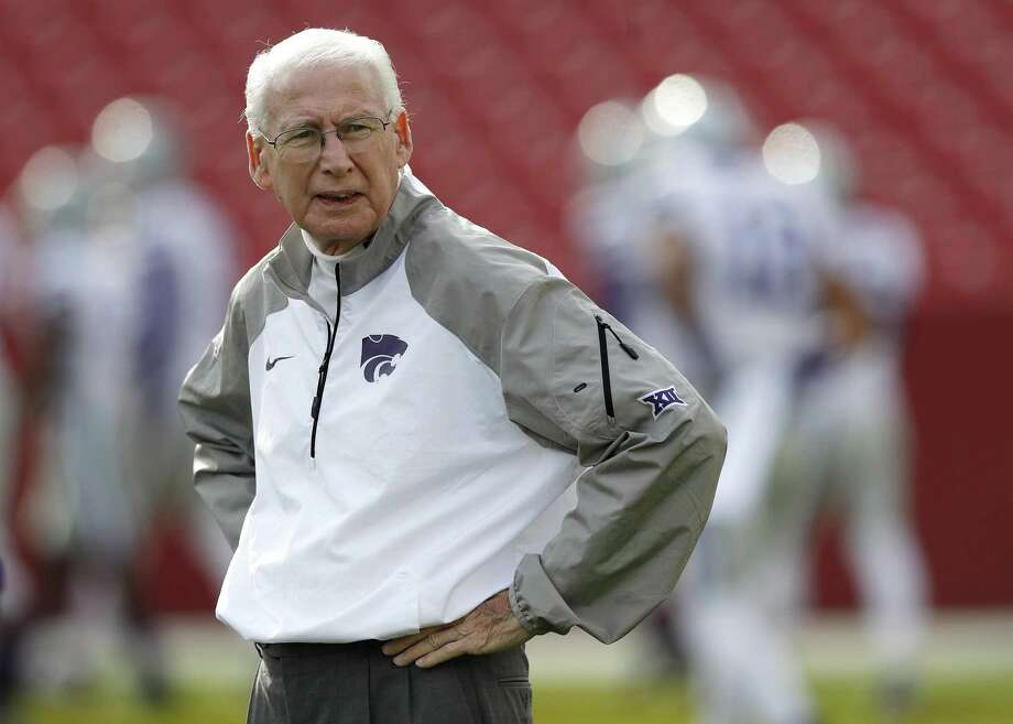 Kansas State coach Bill Snyder stands on the field before the team's game against Iowa State in Ames, Iowa, on Oct. 29, 2016. Photo: Charlie Neibergall /Associated Press / Copyright 2016 The Associated Press. All rights reserved.