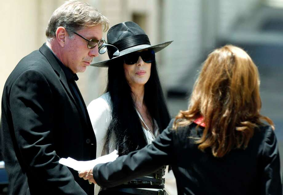 Cher arrives at Snow's Memorial Chapel for the funeral of music legend Gregg Allman Saturday, June 3, 2017, in Macon, Ga. (Jason Vorhees /The Macon Telegraph via AP) Photo: Jason Vorhees, MBO / The Telegraph