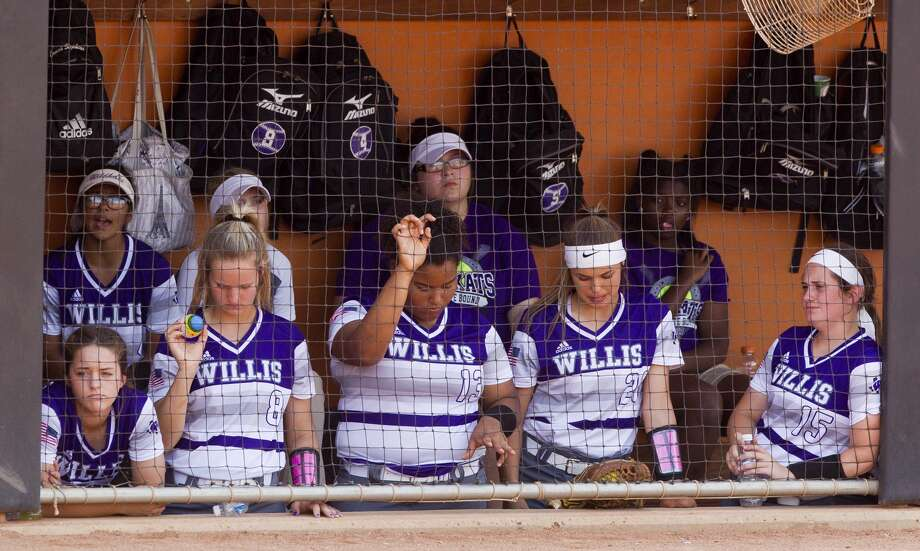 Willis players are seen in the dugout in the fourth inning of the Class 5A final game during the UIL State Softball Championships at Red and Charline McCombs Field, Saturday, June 3, 2017, in Austin. Photo: Jason Fochtman/Houston Chronicle