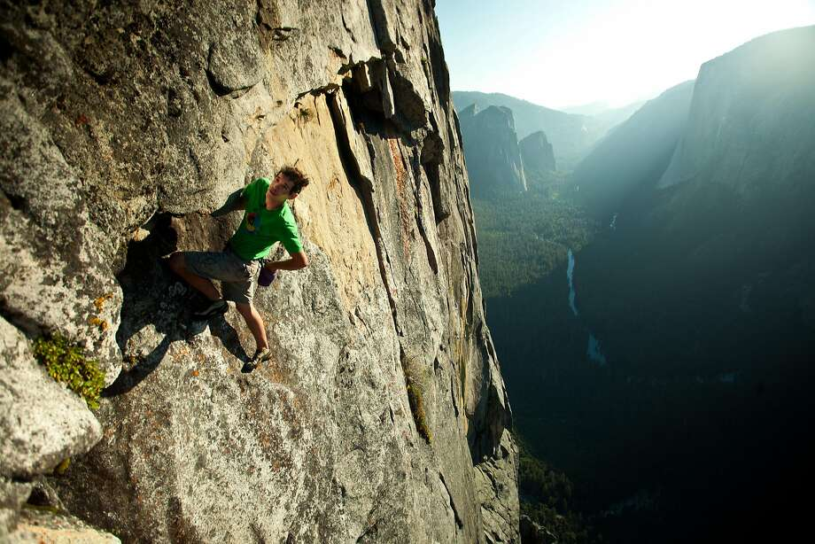 Alex Honnold during an earlier climb in Yosemite Valley.
