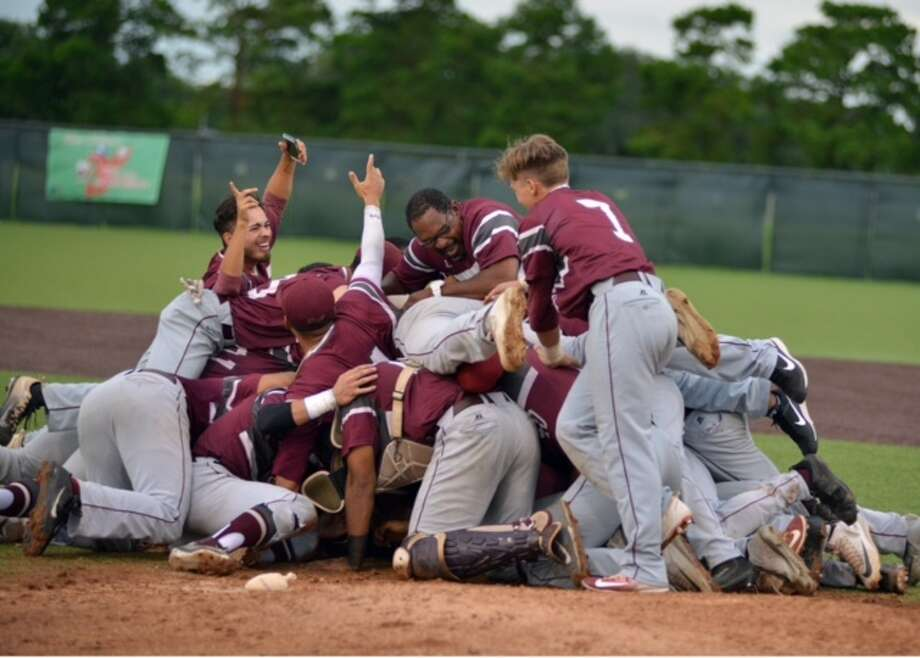 Texas Southern players celebrate after defeating Alabama State for the championship of the Southwestern Athletic Conference tournament.