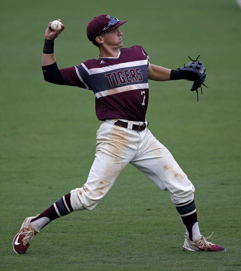Texas Southern infielder Kamren Dukes throws after fielding an outfield single by Rice's Dominic DiCaprio during the sixth inning of an NCAA college baseball tournament regional game in Baton Rouge, La., Saturday, June 3, 2017. (AP Photo/Gerald Herbert) Photo: Gerald Herbert/Associated Press