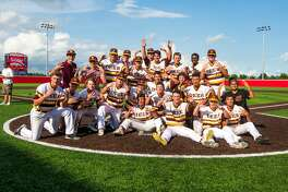 Deer Park players pose for a team picture after the team defeated Travis during Class 6A Region Final (Game 3) between Travis vs Deer Park at Crosby High School, Saturday, June 3 2017, in Crosby. Deer Park defeated Travis 2-1. (Juan DeLeon/for the Houston Chronicle )