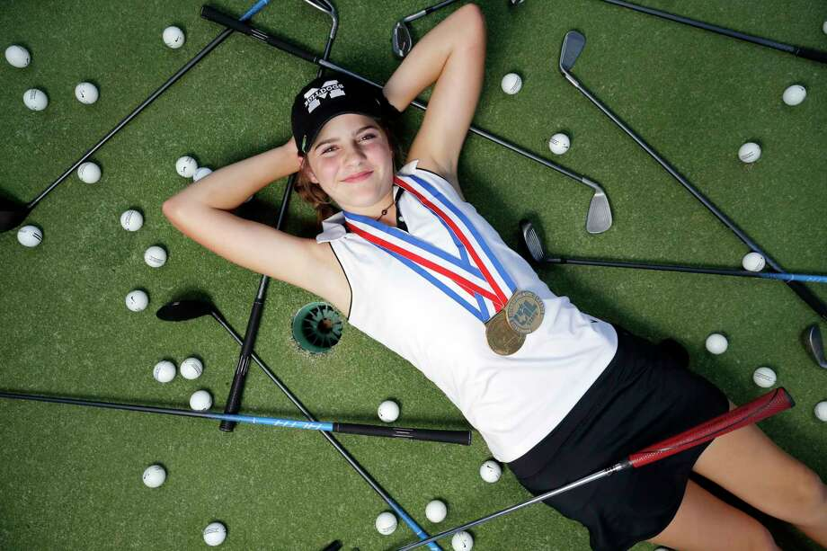 Magnolia freshman golfer Halle Whitney, the All-Greater Houston girls golfer of the year, on the course at the Windcrest Country Club Wednesday May 24, 2017, in Magnolia, TX. (Michael Wyke / Houston Chronicle) Photo: Michael Wyke, Freelance / © 2017 Houston Chronicle