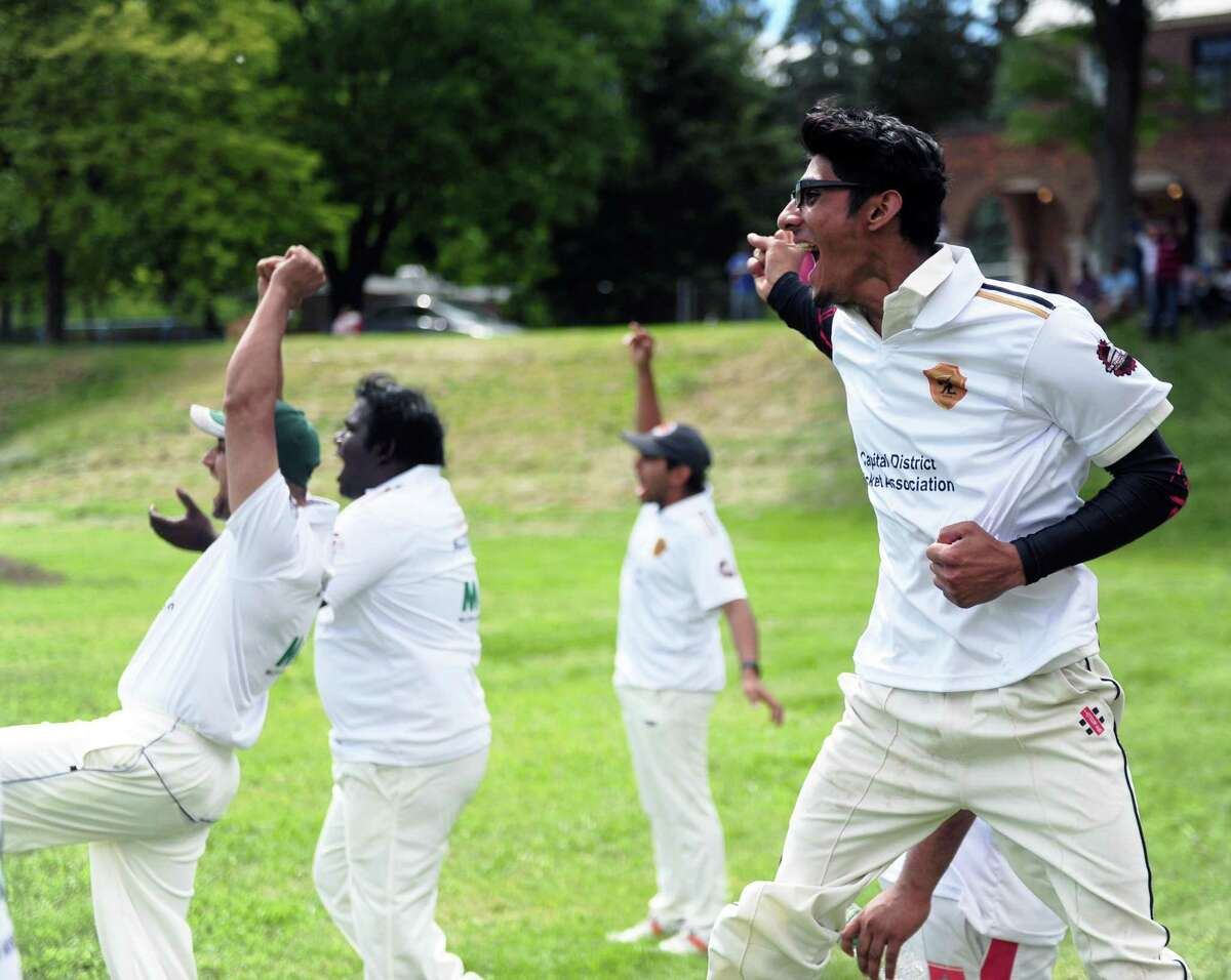 About 200 people were at Lincoln Park in Albany, N.Y. on June 3, 2017 to watch the first-ever Mayor's Cup cricket game. The event, attended by Albany Mayor Kathy Sheehan, brought fans of the sport from across the Capital Region for an afternoon of friendly cricket. (Robert Downen / Times Union)
