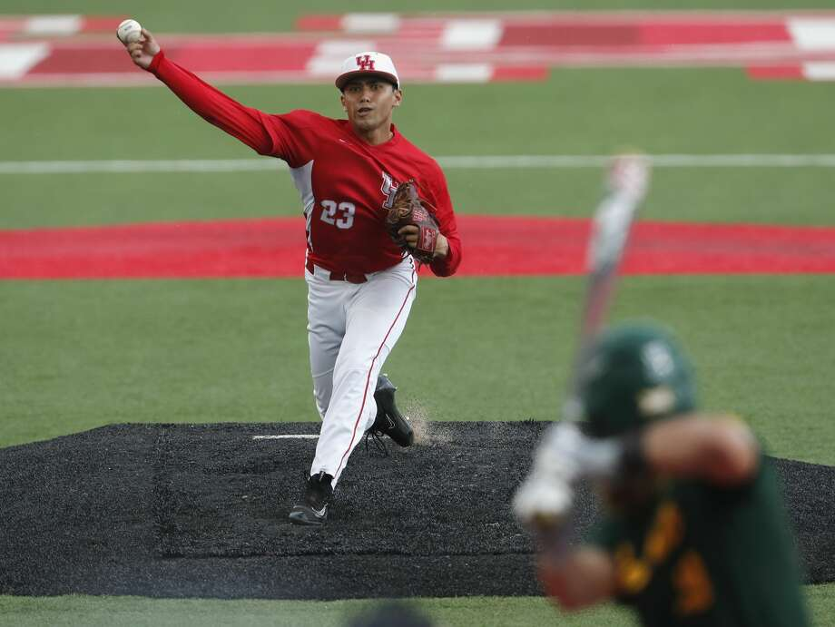 PHOTOS:Former Houston high school stars taken in the 2019 MLB Draft Houston Cougars pitcher Fred Villarreal (23) pitches in the ninth inning during the 2017 NCAA Houston Regional baseball game between the Houston Cougars and the Baylor Bears at Schroeder Park on Saturday, June 3, 2017, in Houston, TX. >>>See where former Houston-area players ended up in this year's draft ... Photo: Tim Warner/For The Chronicle