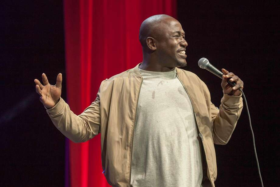 Hannibal Buress performs at the  Bill Graham Civic Auditorium during Colossal Clusterfest in San Francisco, June 2, 2017. The comedian had his microphone cut after making a joke about the Catholic church while performing a set at a Catholic university. Photo: Peter DaSilva, Special To The Chronicle