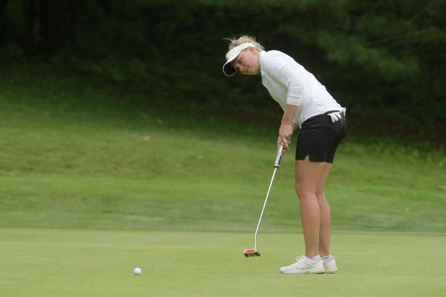 Nanna Koerstz Madsen putts on the 16th green during the final round of the Fuccillo Kia Classic of New York, a Symetra Tour event on Sunday, June 4, 2017, at Capital Hills Golf Course in Albany, N.Y.   (Paul Buckowski / Times Union) Photo: PAUL BUCKOWSKI / 40040663A