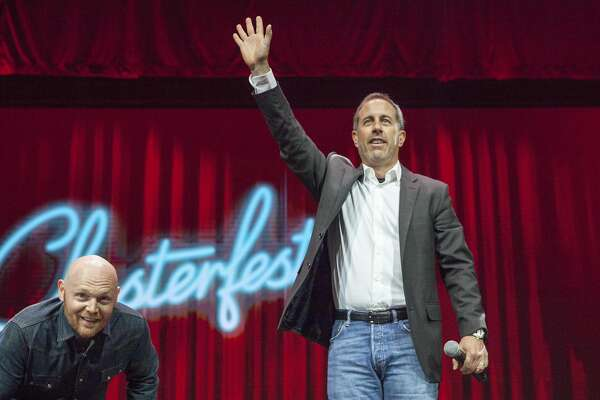 Jerry Seinfeld, host of Comedians in Cars special with Bill Burr during Colossal Clusterfest at Civic Center Plaza in San Francisco, California, USA 4 Jun 2017. (Peter DaSilva/Special to The Chronicle)