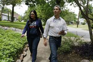 Councilman Ron Nirenberg (right), seen with Deputy Campaign Manager Juany Torres, is running for mayor of San Antonio.