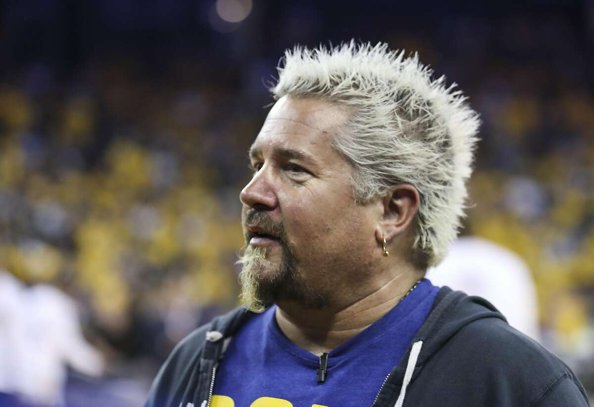 Guy Fieri is seen during Game 2 of the 2017 NBA Finals at Oracle Arena on Sunday, June 4, 2017 in Oakland, Calif.