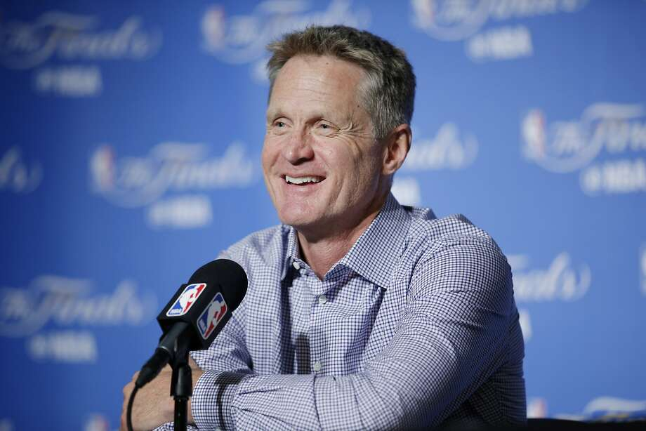 Golden State Warriors head coach Steve Kerr during a news conference. Photo: Santiago Mejia, The Chronicle