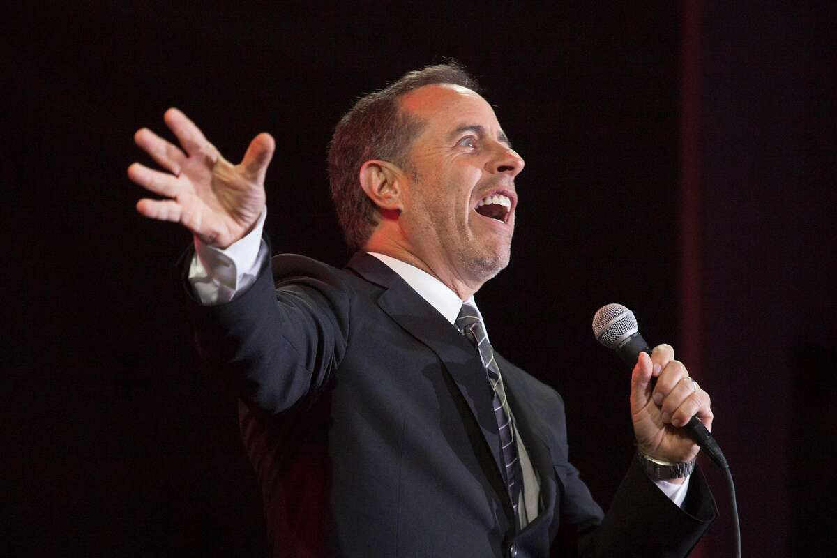 Jerry Seinfeld performs the last set at Colossal Clusterfest at Civic Center Plaza in San Francisco, California, USA 4 Jun 2017. (Peter DaSilva/Special to The Chronicle)