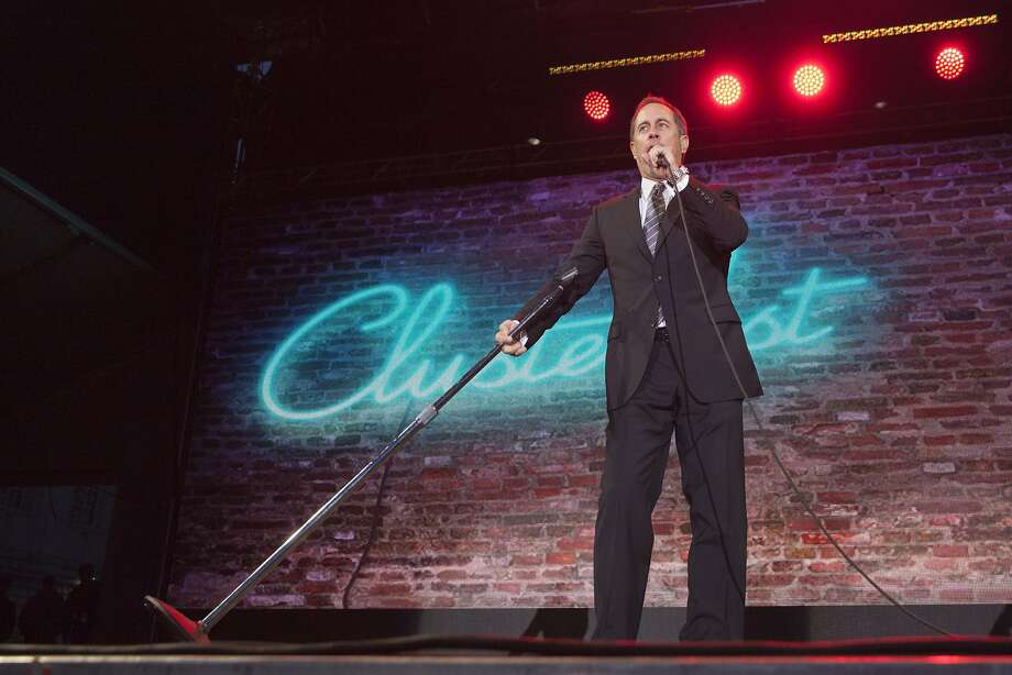 Jerry Seinfeld performs the last set at Colossal Clusterfest at Civic Center Plaza in San Francisco, California, USA 4 Jun 2017. (Peter DaSilva/Special to The Chronicle) Photo: Peter DaSilva, Special To The Chronicle