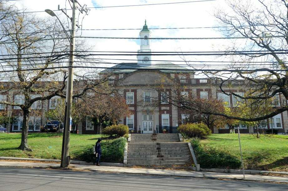 Stamford High School on Strawberry Hill Ave. in Stamford, Conn. on Wednesday, Oct. 31, 2012. Photo: Cathy Zuraw / Cathy Zuraw / Stamford Advocate