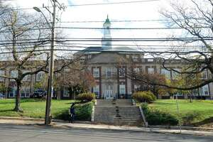 Stamford High School on Strawberry Hill Ave. in Stamford, Conn. on Wednesday, Oct. 31, 2012.