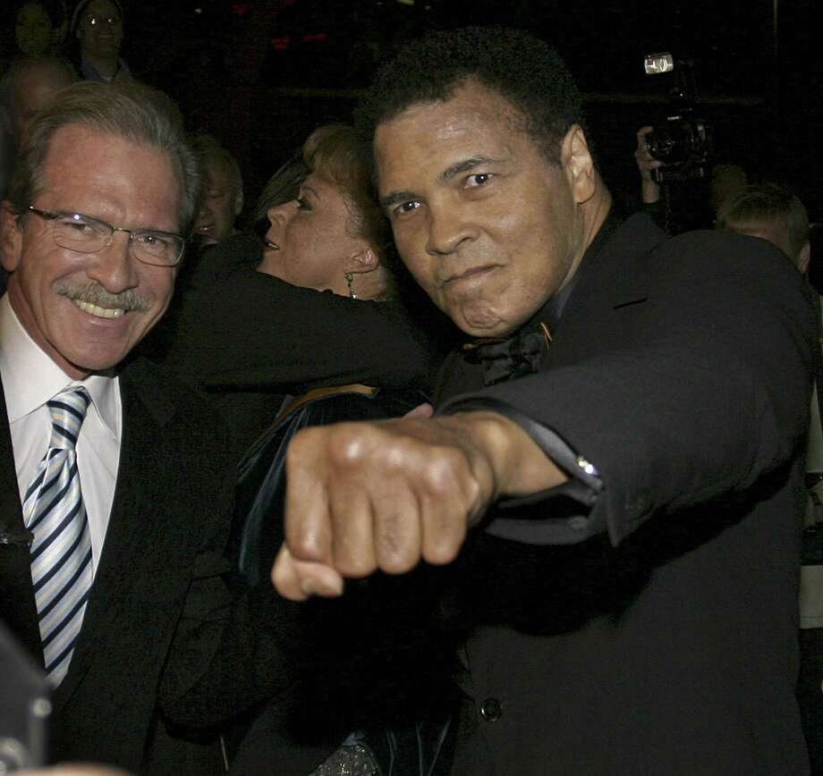 Muhammad Ali (right) with Pat O'Brien in 2005. Photo: Associated Press File Photo / AP