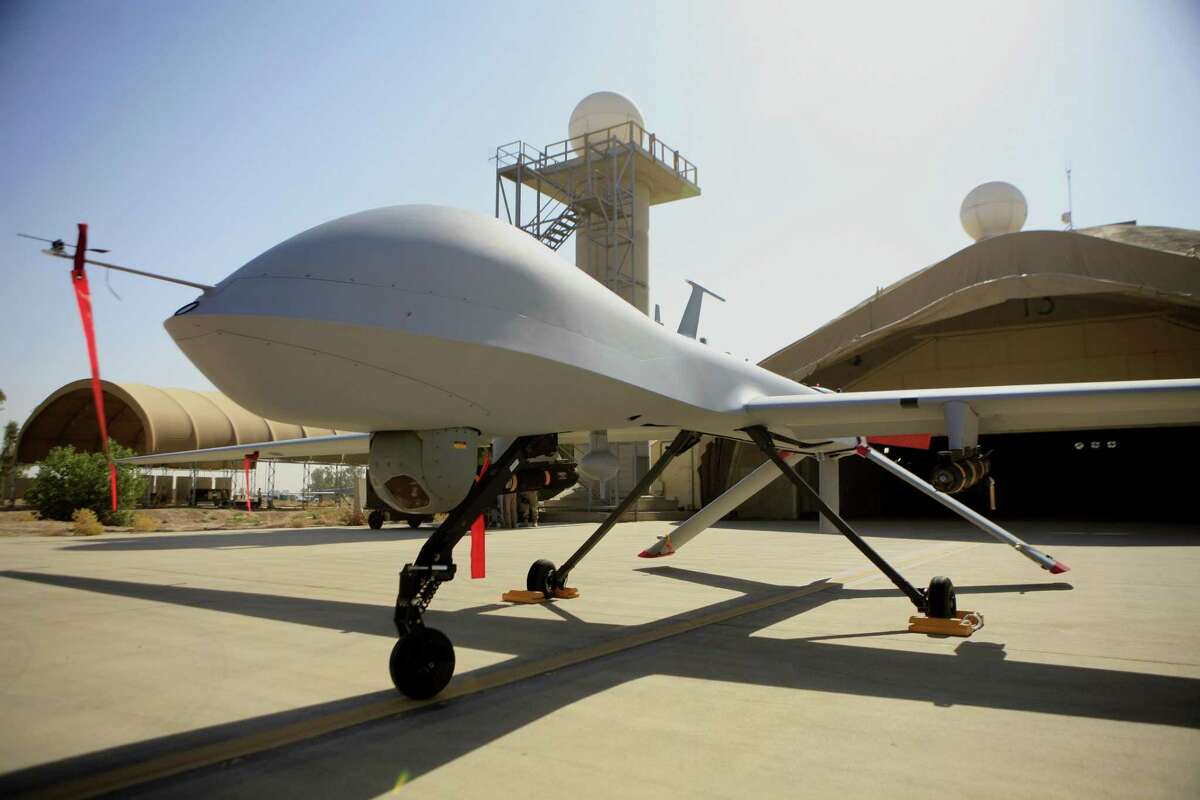 Subsystems from Shelton, Conn.-based Microphase have been used in Predator drones and other military systems. On June 5, 2017, Fremont, Calif.-based Digital Power announced it's acquisition of Microphase. (AP Photo/ Maya Alleruzzo)