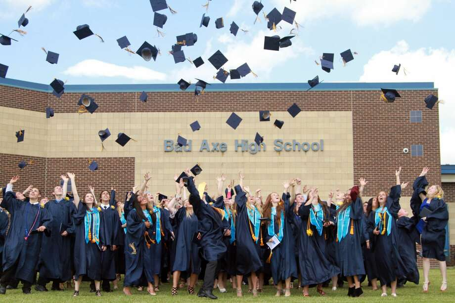 The Bad Axe Class of 2017 graduates. Photo: Coulter Mitchell/For The Tribune