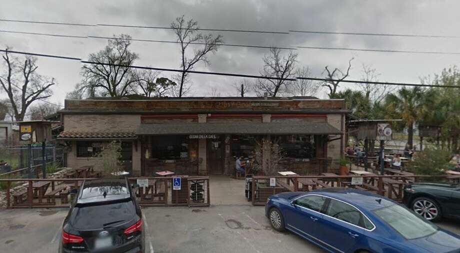 Cedar Creek Cafe 1034 W 20th St. Houston, TX 77008Demerits: 33Inspection Highlights: Turkey burger, hamburger, wieners, shrimp, deli turkey and chicken not safe for human consumption. Condemned approximately 60 pounds of temperature control for safety foods, held at temperatures above 41 degrees F, for more than four hours.Observed brown biofilm inside bar gun drink dispenser Holders. Clean and sanitize nozzles and Holder, daily. Photo: Google Maps