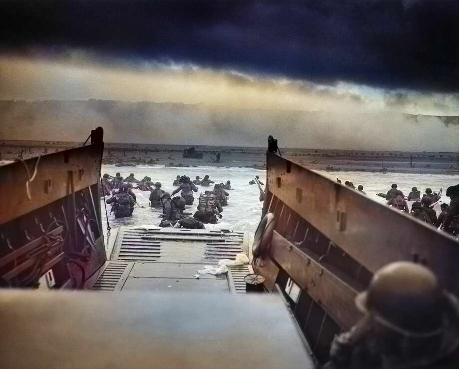 Colorized photos of D-day show new view of historic WWII invasion