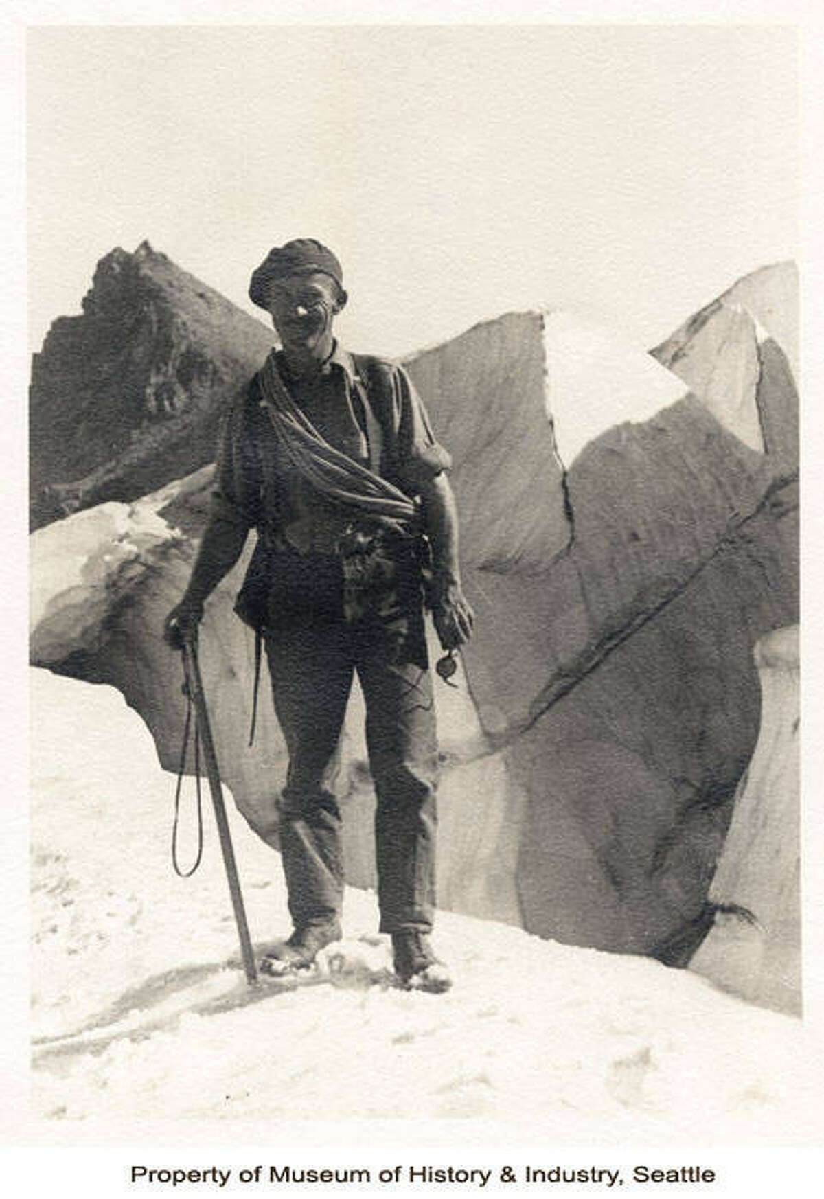 """""""Charles Browne became a National Park Service Ranger around 1928, working first in Mount Rainier National Park, and later in Olympic National Park. After 37 years of service, Browne retired from the National Park Service in 1965."""" -MOHAI. Photo courtesy MOHAI, Charles Browne Mount Rainier Park Ranger Photographs, image number 2009.16.3."""