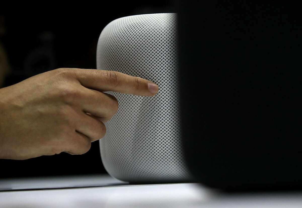 SAN JOSE, CA - JUNE 05: A prototype of Apple's new HomePod is displayed during the 2017 Apple Worldwide Developer Conference (WWDC) at the San Jose Convention Center on June 5, 2017 in San Jose, California. (Photo by Justin Sullivan/Getty Images)