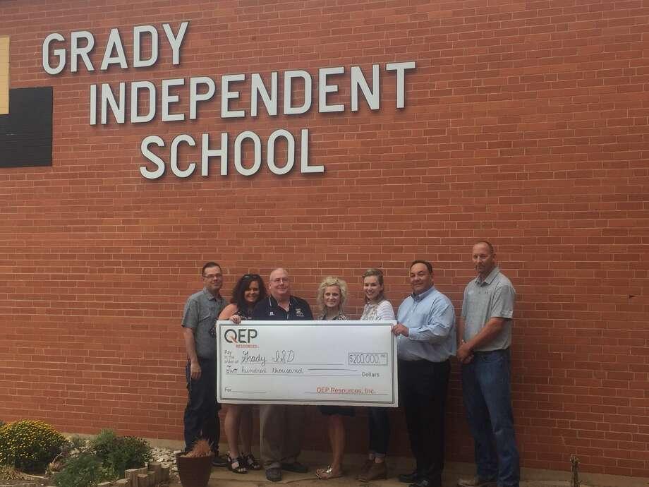 "QEP Resources Inc. has donated $200,000 to establish a ""SmartLab"" for Grady ISD. Photo: Courtesy Photo"