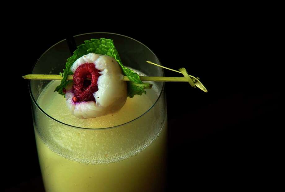 The frozen lychee cocktail at Le Colonial restaurant at River Oaks District is a new player in this summer's spectacular lineup of frozen cocktails in Houston. Photo: Mark Mulligan, Staff Photographer / 2017 Mark Mulligan / Houston Chronicle