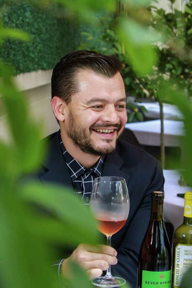Josep Prats of Coppa Osteria, enjoying  Censo Praruar Vendemmia 2014, which is one of his favorite wines. (For the Chronicle/Gary Fountain, May 16, 2017) Photo: Gary Fountain, For The Chronicle / Copyright 2017 Gary Fountain