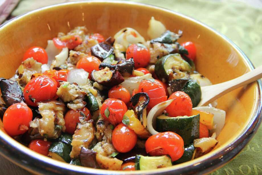 This May 29, 2017 photo shows grilled ratatouille in Coronado, Calif. This dish is from a recipe by Melissa d'Arabian. (Melissa d'Arabian via AP) Photo: Melissa D'Arabian, UGC / Melissa d'Arabian
