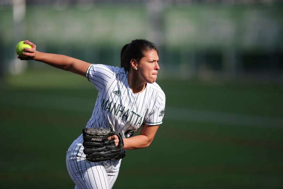 Tamarac High graduate Briana Matazinsky of the Manhattan College softball team. (Courtesy of Manhattan College)