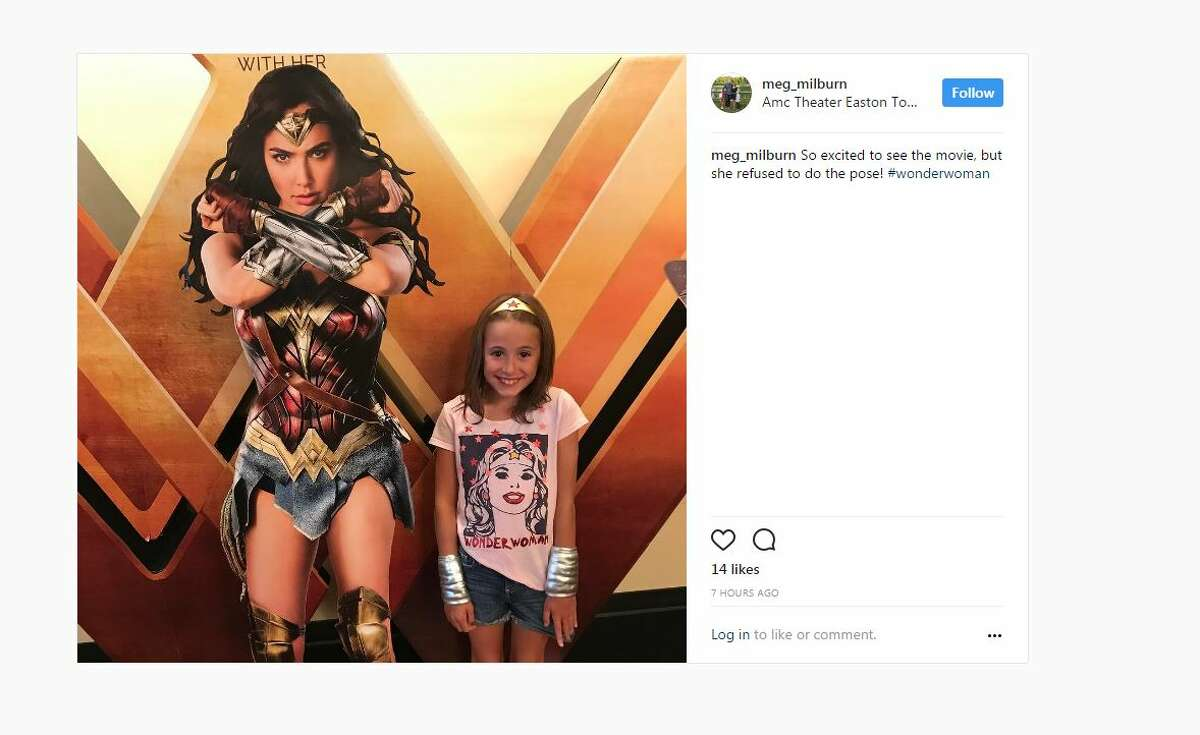 So excited to see the movie, but she refused to do the pose! #wonderwoman A post shared by Megan McKenna Milburn (@meg_milburn) on Jun 5, 2017 at 7:40am PDT