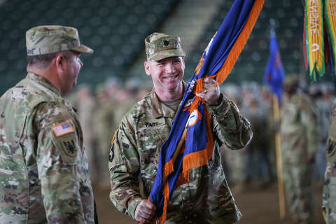 Change in command ceremony in Conroe for Ghostriders