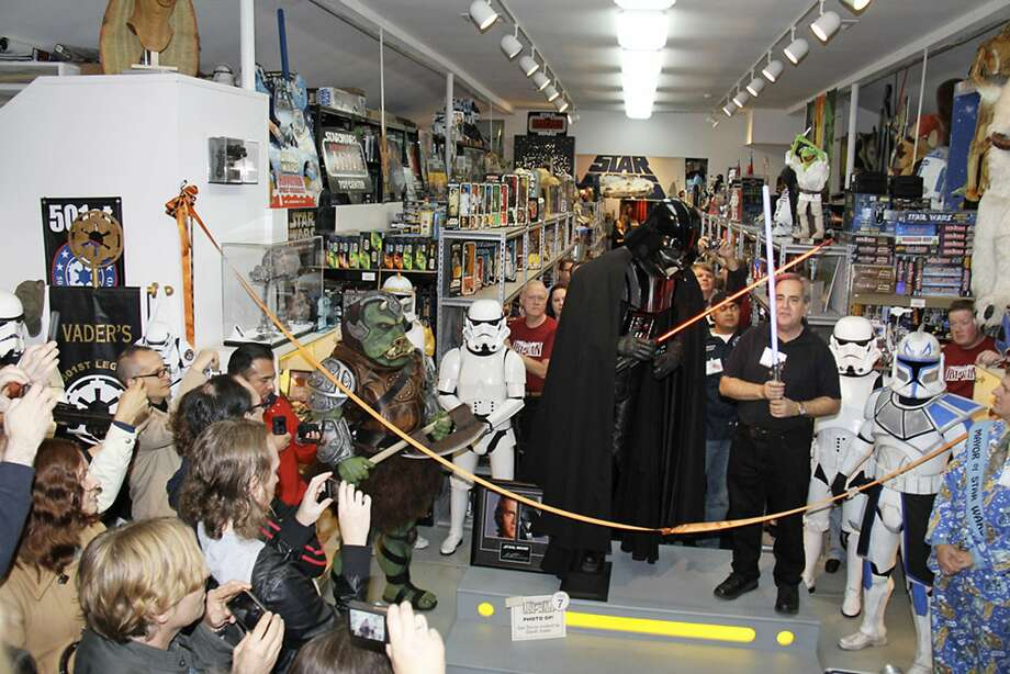 """Fans of the """"Star Wars"""" movies enjoy a gathering at Rancho Obi-Wan in Petaluma, which hosts about 400,000 pieces of """"Star Wars"""" memorabilia. Photo: Anne Neumann, Associated Press"""