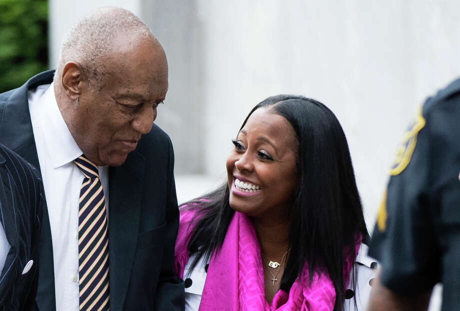 "Bill Cosby arrives for his sexual assault trial Monday with actress Keshia Knight Pulliam at the Montgomery County Courthouse in Norristown, Pa. Pulliam played Cosby's youngest daughter, Rudy Huxtable, on ""The Cosby Show."" Photo: Matt Rourke, STF / Copyright 2017 The Associated Press. All rights reserved."